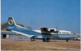 Thème -  Avion - OKC A100 - Air Sofia - AN 12B - Sofia 1992 -  Format 8.5*13.5  Cm - - 1946-....: Moderne