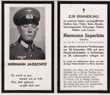 Christliches Andenken 1941, Gefreiter, Inh.d.EK I, Tod N.schwerer Verletzung In Schtschigry - 1939-45