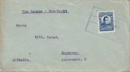 COLOMBIA 1923, Schöne Frankierung Auf Brief, Gel.v.Cali - Panama - New York - Hannover - Colombia