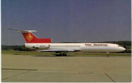 Thème -  Avion - Sirivatana Interprint 205 - Tupolev TU 154B 1 - Palair Macedonian - Zurich 1991 -  Format 8.5*13.5  Cm - 1946-....: Moderne