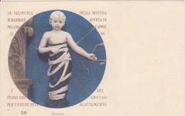 In Memoria Della Mostra Di Bambole E Igiene Dell Allattamento 1899 -Saggio-  Cartolina Numerata - Esposizioni