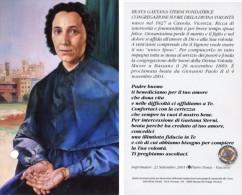 Santino BEATA GAETANA STERNI Con RELIQUIA (Ex Indumentis) - PERFETTO G16 - Religione & Esoterismo