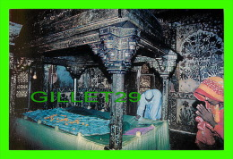 FATEHPUR-SIKRI, INDIA - MOTHER OF PEARL WORK INSIDE DARGAH - AJOOBA CARDS - - Inde