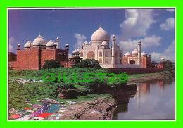 AGRA, INDIA -  RIVER SIDE TAJ MAHAL - AJOOBA CARDS - - Inde