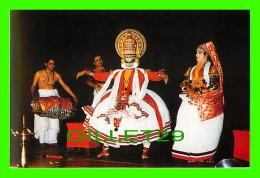 KERALA, INDIA - KATHAKALI DANCE - BHIMA MIMES THE BREADTH - PHOTO, V.B. ANAND - VZINDIA PICTURE POST CARDS - - Inde