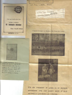 SANT'ANTONIO DA PADOVA INSIEME CON BUSTA RICHIESTA DI AIUTO AI BENEFATTORI E MEDAGLIETTA MC.1182 - Historical Documents