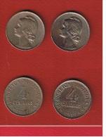 PORTUGAL //  4 Centavos 1917 Et 1919  //  KM # 566 - Portugal