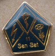 CP SAN BAT 11 - COMPAGNIE SANITAIRE BATAILLON11 - ARMEE SUISSE - SWISS ARMY - FLECHE-VOLANT-  (8) - Army