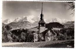 CP, 74, CORDON, Eglise Et Le Mont-Blanc, Voyagé En 1959 - Autres Communes