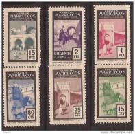 MA400-L4090TARM.Marocco .Maroc .MARRUECOS  ESPAÑOL.Puertas Tipicas. 1955 (Ed 400/5**)sin Charnela. - Mezquitas Y Sinagogas