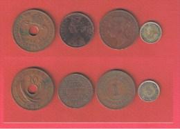 COLONIES ANGLAISE  //  Lot De 4 Monnaies Anciennes - Colonies
