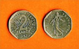 FRANCE 1979-1997 2 Francs Nickel Km942.1 - I. 2 Francs