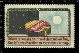 Old Original German Poster Stamp(cinderella, Reklamemarke) KAVALIER - Shoes Boots Schuhe Stiefel Shoe Polish - Erinnophilie