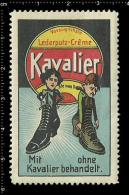 Old Original German Poster Stamp(cinderella, Reklamemarke) KAVALIER - Shoes Boots Schuhe Stiefel Shoe Polish - Cinderellas