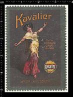 Old Original German Poster Stamp(advertising Cinderella, Reklamemarke) Kavalier - Shoes Boots Schuhe Stiefel Beauty Lady - Erinnophilie