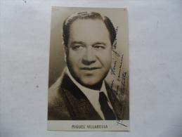 Autographe Manuscrit Miguel Villabella Acteur Theatre Cinema - Autografi