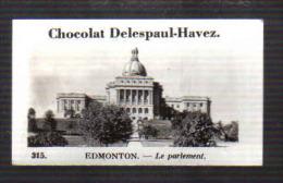 Q586 -  IMAGE CHOCOLAT DESLESPAUL HAVEZ - EDMONTON PARLEMENT - Unclassified