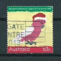 1988 Australia 63 Cent Christmas,kerst,noël,weihnachten Used/gebruikt/oblitere - 1980-89 Elizabeth II