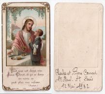 Paris IVè ? , Image Pieuse Communion 1932, Charles Et Pierre Conrad, église Saint-Paul - Saint-Louis - Devotion Images