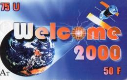 CARTE PREPAYEE  WELCOME 2000  75U/50F  4052  ***** - France