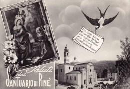 C-361 Cartolina Saluti Dal Santuario Di Pinè - Trento