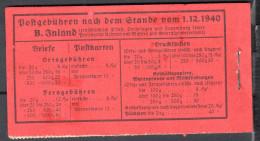 Deutsches Reich  Mi  MH - 39  - Deckel Mit Faltspuren - Siehe Scan- H-blatt ** - Alemania