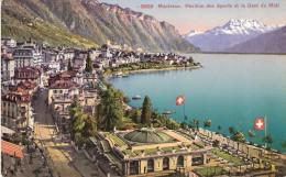 PostkaartZwitserland A348        Montreux Pavillondes Sports Et La Du Midi - Ohne Zuordnung