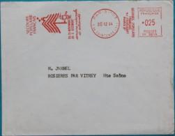 Enveloppe 1964 Secours Populaire  Francais Pour Rosieres Par Vitrey (71) Affr. 25c EMA Machine Satas Type SR - Frankreich