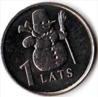 LATVIA 1 Lats 2007  Snowman.UNC - Latvia
