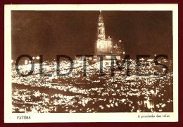 FATIMA - A PROCISSAO DAS VELAS DE NOITE - 1940 PC - Santarem