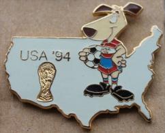 USA 94 WORLD CUP SOCCER  - COUPE DU MONDE DE  FOOTBALL - FOOT - CARTE DES USA - CHIEN   - (8) - Football