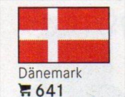 Set 6 Flaggen Dänemark In Farbe Pack 4€ Zur Kennzeichnung Von Büchern,Alben+Sammlung Firma LINDNER #641 Flags Of Danmark - Scandinavian Languages