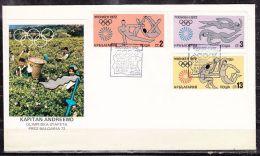 Schmuckumschlag, Olympiade Muenchen 1972, SoSt Kapitan Andreewo (46905) - Cartas