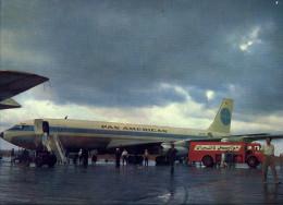 Avion DC-8 Pan American (en Arabie?),  Photo From Calender Issued By Mobil, 1961 - Oude Documenten