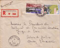 MADAGASCAR - MORONDAVA LE 6-1-1965 - LETTRE RECOMMANDEE POUR LA FRANCE. - Madagascar (1960-...)