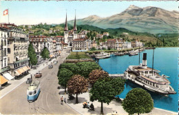 PostkaartZwitserland A376     Luzern,Schweizerhofquai Mit Rigi - Non Classés