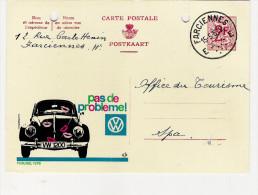 Publibel Obl + Trous De Classement  N° 1898 (avec VW  Pas De Problème) Obl: Farciennes 15/05/1963 - Entiers Postaux