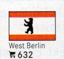 Set 6 Flaggen Berlin In Farbe 4€ Zur Kennzeichnung An Bücher,Alben+Sammlung LINDNER #632 In Deutschland Flags Of Germany - Culture