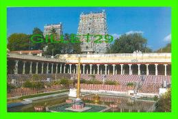 MADURAI CITY, INDIA - GOLDEN LOTUS TANK FACING AMMAN & EAST  TOWER - PHOTO CREDITS: BRAHAN - VIVEK CARDS - - Inde