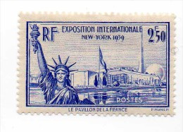 """Exposition De New York"" - 1940 - N° 458 - 2f 50 Outremer - Neuf - Très Bon état - - France"