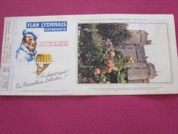 BUVARD Publicitaire :Flan Lyonnais Entremet Château De La Loire Montreuil Bellay N° 21 ( Photos Recto Verso) - Food