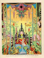 # DARK ESOTERIC TALE 1930s Art Print Stampa Gravure Poster Druck Italy Esoteric Oscuro Esoterische Dunkel Oriental - Religion & Esotericism
