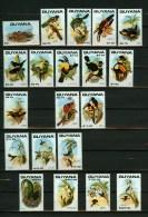 Guyana 1990,20V,partset,birds,flowers,vogels,bloemen ,vögel,oiseaux,uccelli,pajaros,uccelli,aves, MNH/Postfris(D1875) - Vogels