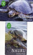 TELECARTES NAURU Tortue Turtle  (lot De 2)