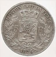 LEOPOLD II * 5 Frank 1876 * Nr 4946 - 1865-1909: Leopold II