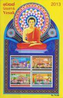 SA0005 Sri Lanka 2013 Buddhist Festival S/S(4) MNH - Sri Lanka (Ceylon) (1948-...)