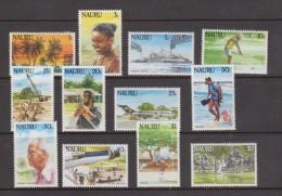 Nauru 1984 Scene & Tourism Definitive Set 12 MNH - Nauru