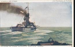 L´Angleterre Prete A Frapper ---  Un  Navires De Guerre  Britanique Pare Pour L'Action - Guerra