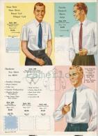 Publicité  Advertising Fashion Mode  Men´s Dress Shirt( 1962  Image Avec 5 échantillons De Tissu ) - Publicidad