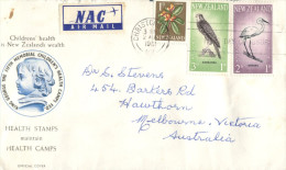 (111) New Zealand Cover Posted To Australia - 1961 Heatlh Stamps + NAC Air Mail Sticker - Lettres & Documents